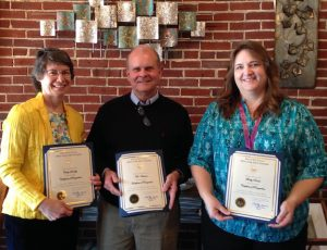 Whirlwind of Change, 2016 award winners: Cindy Smalley, Tom Ambrose, and Becky Pracht